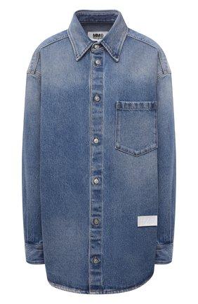 Женская джинсовая рубашка MM6 голубого цвета, арт. S52DL0159/S30589   Фото 1