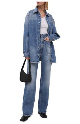 Женская джинсовая рубашка MM6 голубого цвета, арт. S52DL0159/S30589   Фото 2