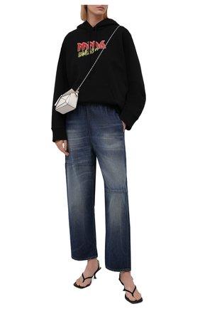 Женские джинсы MM6 темно-синего цвета, арт. S52KA0324/S30460   Фото 2