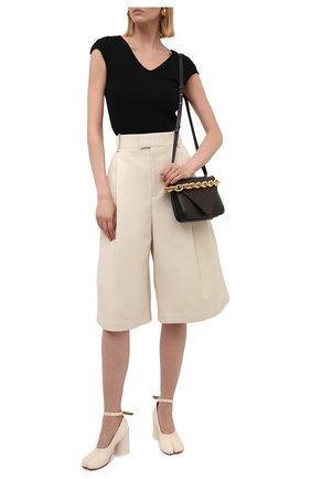 Женские кожаные туфли court MAISON MARGIELA кремвого цвета, арт. S34WL0021/P3753   Фото 2