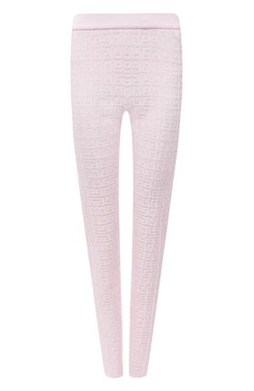Женские леггинсы из вискозы GIVENCHY светло-розового цвета, арт. BW50RJ4ZA4   Фото 1