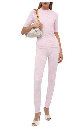 Женские леггинсы из вискозы GIVENCHY светло-розового цвета, арт. BW50RJ4ZA4   Фото 2