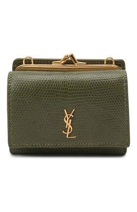 Женская поясная сумка kate SAINT LAURENT хаки цвета, арт. 660786/LVD4J/VSAL | Фото 1 (Стили: Классический; Сумки-технические: Сумки через плечо; Ремень/цепочка: На ремешке; Размер: mini)