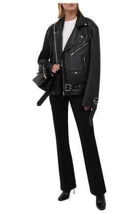 Женская кожаная куртка VETEMENTS черного цвета, арт. UA52JA910BL 2470/W | Фото 2