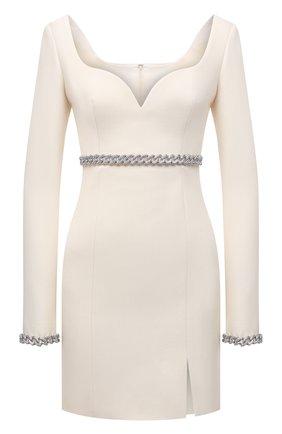 Женское шерстяное платье GIUSEPPE DI MORABITO кремвого цвета, арт. PF21191DR-136 | Фото 1