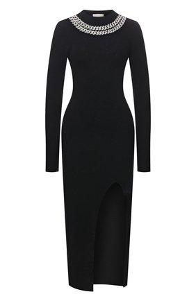 Женское шерстяное платье GIUSEPPE DI MORABITO черного цвета, арт. PF21104KN-144 | Фото 1