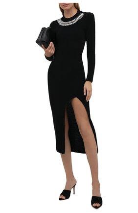 Женское шерстяное платье GIUSEPPE DI MORABITO черного цвета, арт. PF21104KN-144 | Фото 2