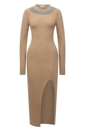 Женское шерстяное платье GIUSEPPE DI MORABITO бежевого цвета, арт. PF21104KN-144 | Фото 1