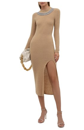Женское шерстяное платье GIUSEPPE DI MORABITO бежевого цвета, арт. PF21104KN-144 | Фото 2