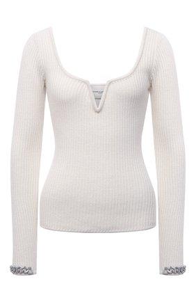 Женский пуловер из шерсти и шелка GIUSEPPE DI MORABITO кремвого цвета, арт. PF21092KN-146 | Фото 1
