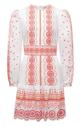 Женское хлопковое платье MICHAEL MICHAEL KORS белого цвета, арт. MU1806ZS98 | Фото 1