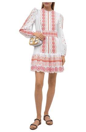 Женское хлопковое платье MICHAEL MICHAEL KORS белого цвета, арт. MU1806ZS98 | Фото 2