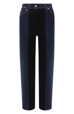 Женские джинсы ALEXANDER MCQUEEN темно-синего цвета, арт. 663966/QMABD | Фото 1