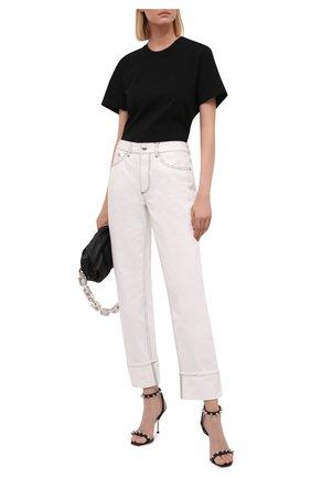 Женские кожаные босоножки ALEXANDER MCQUEEN черного цвета, арт. 658240/WHWQ1 | Фото 2 (Материал внутренний: Натуральная кожа; Каблук высота: Высокий; Подошва: Плоская; Каблук тип: Шпилька)