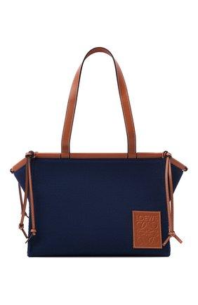 Женский сумка-тоут cushion small LOEWE темно-синего цвета, арт. A612A93X18 | Фото 1