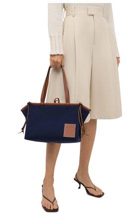 Женский сумка-тоут cushion small LOEWE темно-синего цвета, арт. A612A93X18 | Фото 2