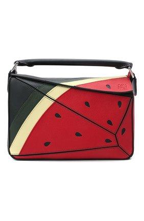 Женская сумка puzzle loewe x paula's ibiza LOEWE красного цвета, арт. A510S21X69 | Фото 1