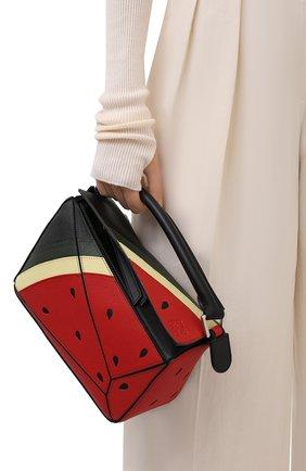 Женская сумка puzzle loewe x paula's ibiza LOEWE красного цвета, арт. A510S21X69 | Фото 2