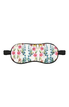 Женские шелковая маска для сна YOLKE разноцветного цвета, арт. AW21-17S_P0UCH-WIF-IV | Фото 1 (Материал внешний: Шелк)