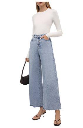 Женские джинсы 7 FOR ALL MANKIND голубого цвета, арт. JSZ0B75TL0   Фото 2