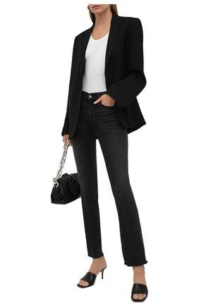 Женские джинсы 7 FOR ALL MANKIND темно-серого цвета, арт. JSWSB230KB   Фото 2