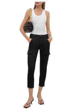 Женские джинсы 7 FOR ALL MANKIND черного цвета, арт. JSL3A850CA   Фото 2