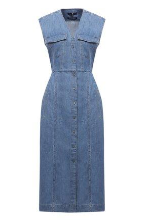 Женское джинсовое платье 7 FOR ALL MANKIND голубого цвета, арт. JSCBS970DA   Фото 1