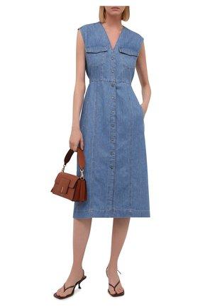 Женское джинсовое платье 7 FOR ALL MANKIND голубого цвета, арт. JSCBS970DA   Фото 2