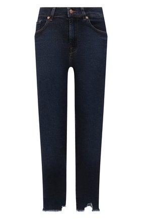 Женские джинсы 7 FOR ALL MANKIND темно-синего цвета, арт. JSA7A91TVH   Фото 1