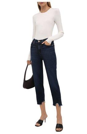 Женские джинсы 7 FOR ALL MANKIND темно-синего цвета, арт. JSA7A91TVH   Фото 2