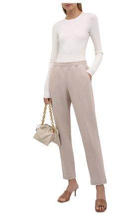 Женские хлопковые брюки WINDSOR светло-бежевого цвета, арт. 52 DT605 10011927 | Фото 2