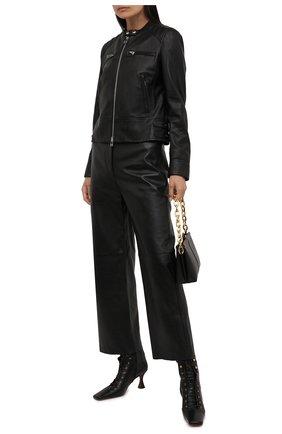 Женская кожаная куртка WINDSOR черного цвета, арт. 52 DL600 10006420 | Фото 2