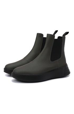 Женские комбинированные ботинки h562 HOGAN хаки цвета, арт. HXW5620DR30Q6F | Фото 1