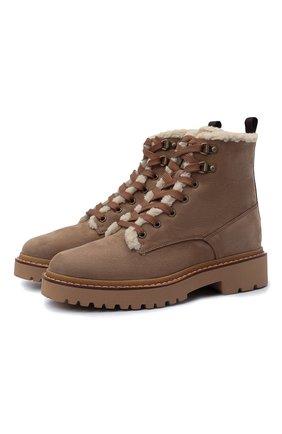 Женские кожаные ботинки h578 HOGAN светло-коричневого цвета, арт. HXW5780DH526RN | Фото 1