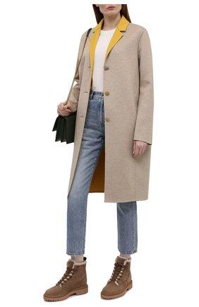 Женские кожаные ботинки h578 HOGAN светло-коричневого цвета, арт. HXW5780DH526RN | Фото 2