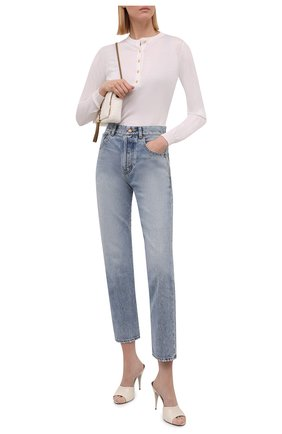 Женский пуловер из смеси кашемира и шелка TOM FORD белого цвета, арт. MAK936-YAX087 | Фото 2 (Материал внешний: Кашемир, Шерсть, Шелк; Женское Кросс-КТ: Пуловер-одежда; Стили: Кэжуэл; Рукава: Длинные; Длина (для топов): Стандартные)