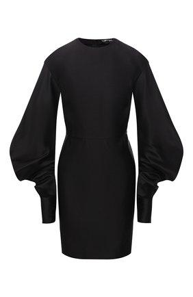 Женское шелковое платье TOM FORD черного цвета, арт. AB3028-FAX671 | Фото 1 (Материал внешний: Шелк; Длина Ж (юбки, платья, шорты): Мини; Рукава: Длинные; Женское Кросс-КТ: Платье-одежда; Случай: Коктейльный; Стили: Гламурный)