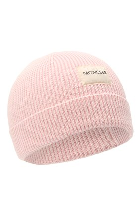 Детского хлопковая шапка MONCLER розового цвета, арт. G2-951-9Z709-00-V9217 | Фото 1