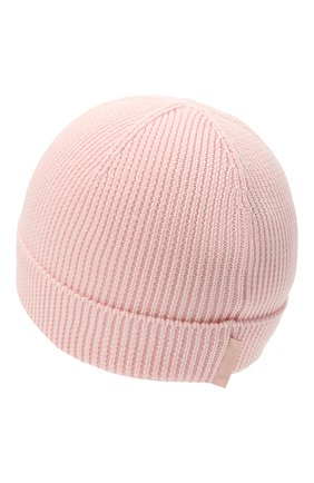 Детского хлопковая шапка MONCLER розового цвета, арт. G2-951-9Z709-00-V9217 | Фото 2