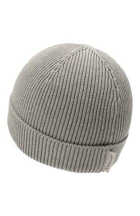 Детского хлопковая шапка MONCLER серого цвета, арт. G2-951-9Z709-00-V9217 | Фото 2
