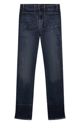 Детские джинсы POLO RALPH LAUREN синего цвета, арт. 313832766 | Фото 1 (Материал внешний: Хлопок; Ростовка одежда: 10 - 11 лет | 140 - 146см, 12 лет | 152 см, 13 - 15 лет | 158 см, 8 лет | 128 см, 9 лет | 134 см)