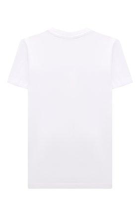 Детская хлопковая футболка DIESEL белого цвета, арт. J00294-00YI9 | Фото 2