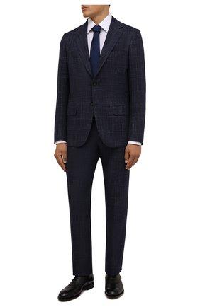 Мужской костюм из кашемира и шерсти KITON темно-синего цвета, арт. UA81K0103A | Фото 1