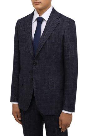 Мужской костюм из кашемира и шерсти KITON темно-синего цвета, арт. UA81K0103A | Фото 2