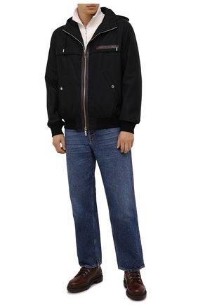 Мужские кожаные ботинки BRUNELLO CUCINELLI коричневого цвета, арт. MZUXPMI819 | Фото 2 (Материал утеплителя: Натуральный мех; Мужское Кросс-КТ: Ботинки-обувь, зимние ботинки, Хайкеры-обувь; Подошва: Массивная)