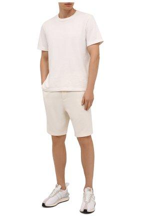 Мужские хлопковые шорты RALPH LAUREN кремвого цвета, арт. 790774628 | Фото 2