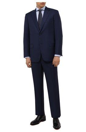 Мужской шерстяной костюм BRIONI темно-синего цвета, арт. RAH04I/01A87/PARLAMENT0 | Фото 1
