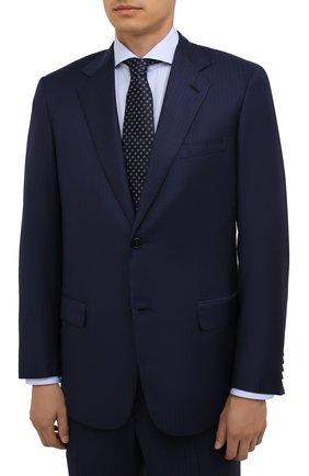 Мужской шерстяной костюм BRIONI темно-синего цвета, арт. RAH04I/01A87/PARLAMENT0 | Фото 2