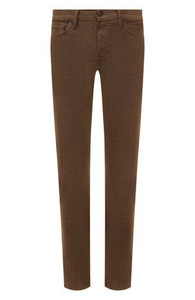 Мужские хлопковые брюки TOM FORD коричневого цвета, арт. BYJ39/TFD002   Фото 1