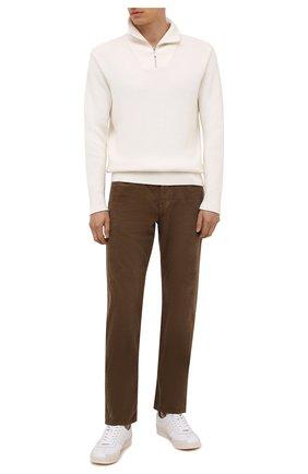 Мужские хлопковые брюки TOM FORD коричневого цвета, арт. BYJ39/TFD002   Фото 2